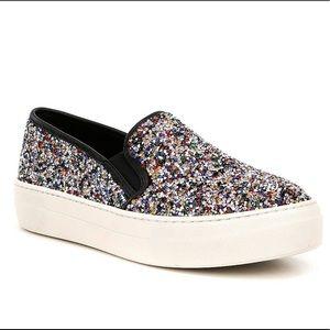 Steve Maden Gracious Glitter Rhinestone Sneakers